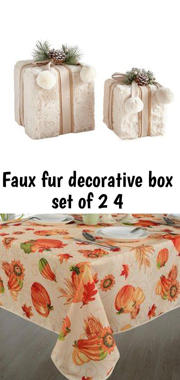 Faux fur decorative box set of 2 4 #chilibar