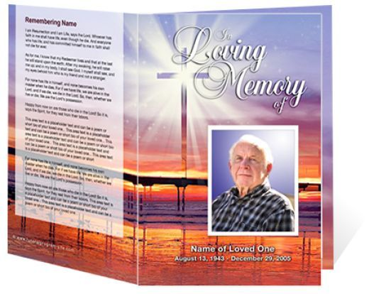 Funeral Program Cover Free Downloadable Funeral Program Covers - memorial pamphlet template free