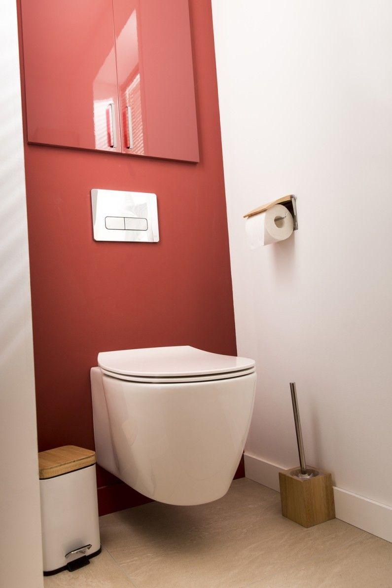 wc rouge ideal standard contemporain actuel d co en. Black Bedroom Furniture Sets. Home Design Ideas
