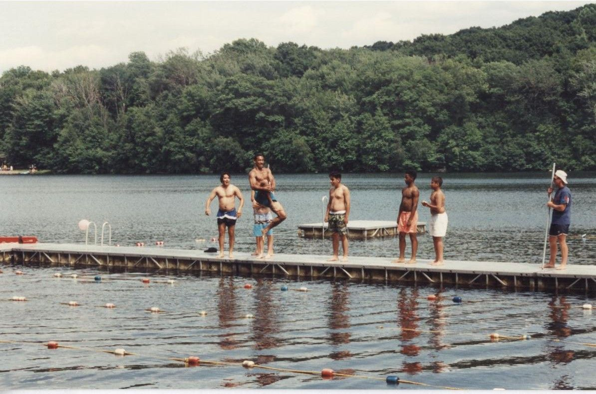 Cooling off in the lake at The Fresh Air Fund's camp in