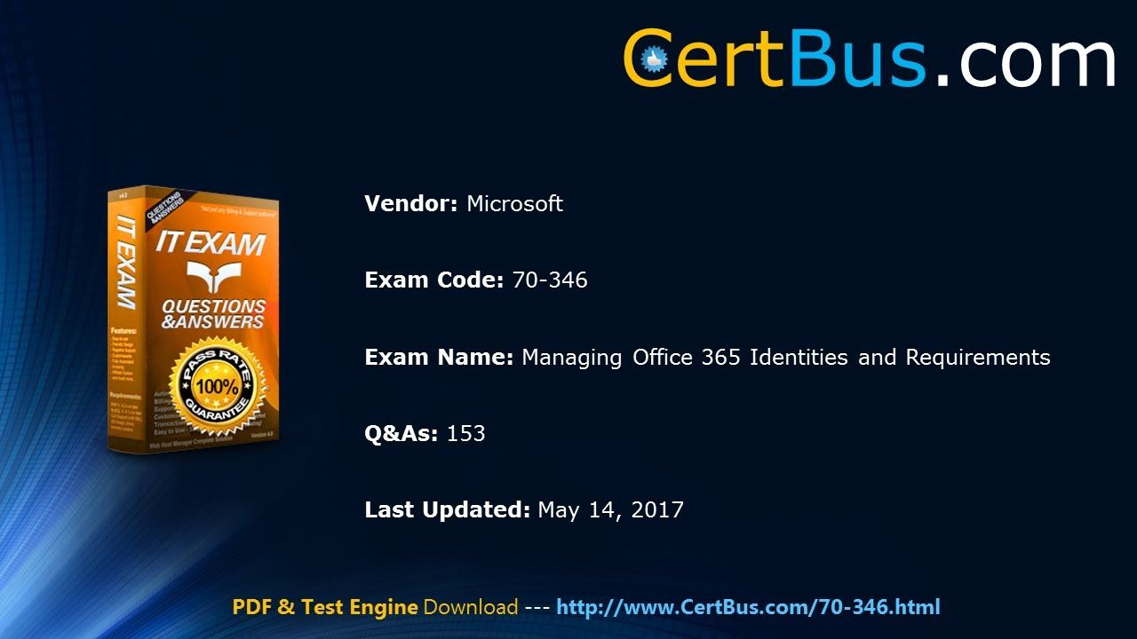 Microsoft 70 346 Study Guide And Practice Exams Test Engine And Pdf