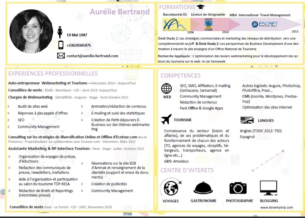 Cv Aurelie Bertrand Bertrand Ambition Cvs