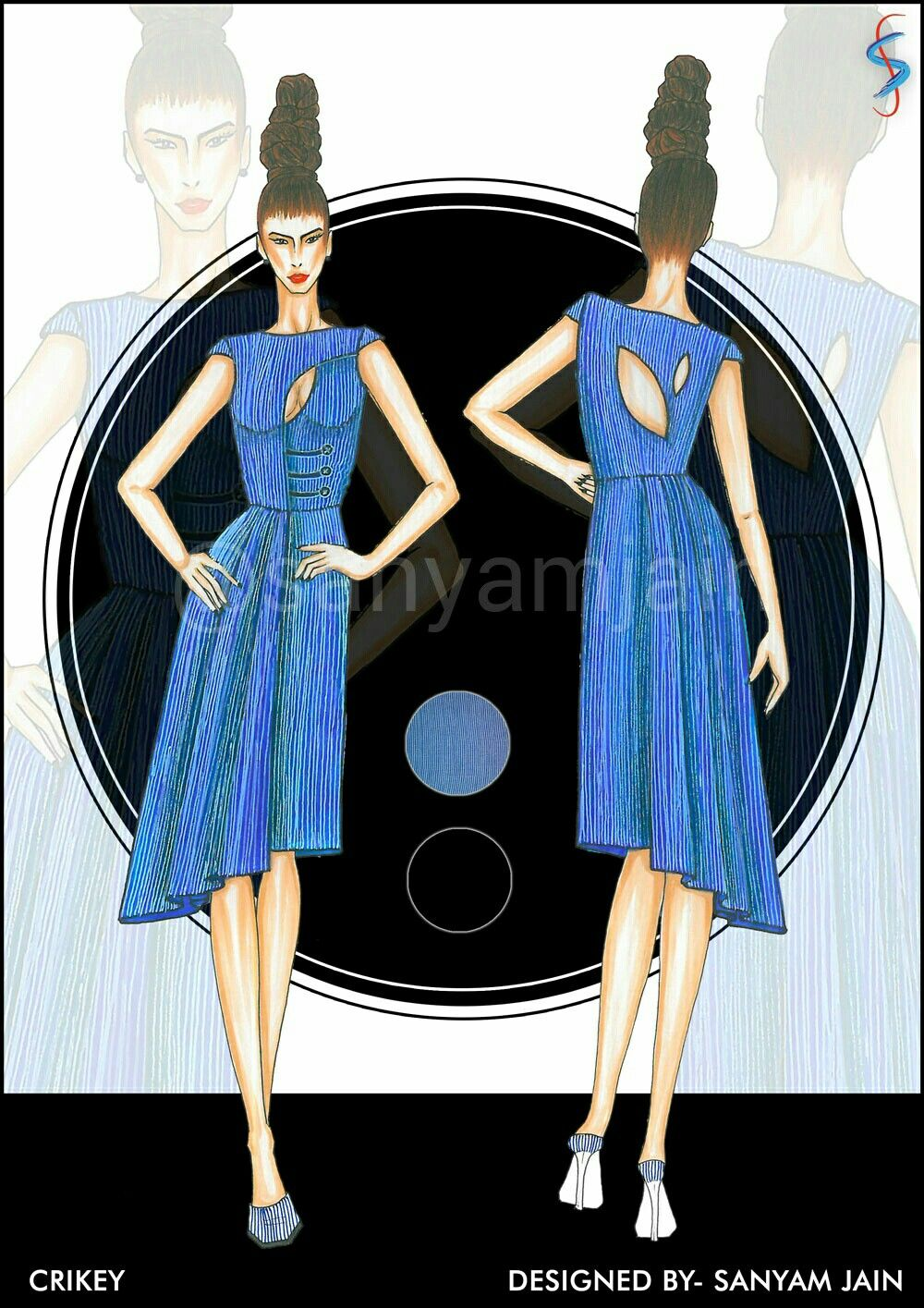 Crikey Hashboosh Voonik Competition Beautiful Indian Kurtis Tunics And Dresses Designed By Sanyam Jai Fashion Illustration Fashion Design Fashion Illustrator