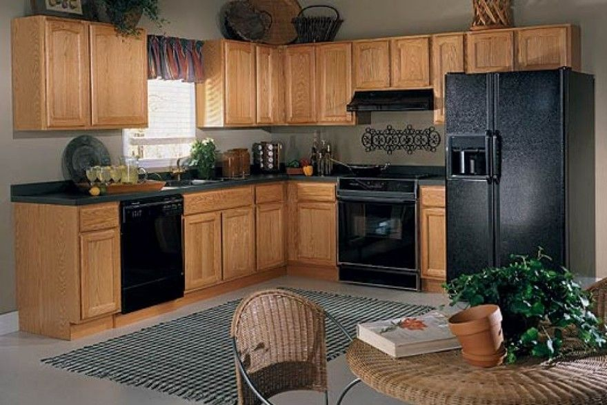Finding The Best Kitchen Paint Colors With Oak Cabinets Black