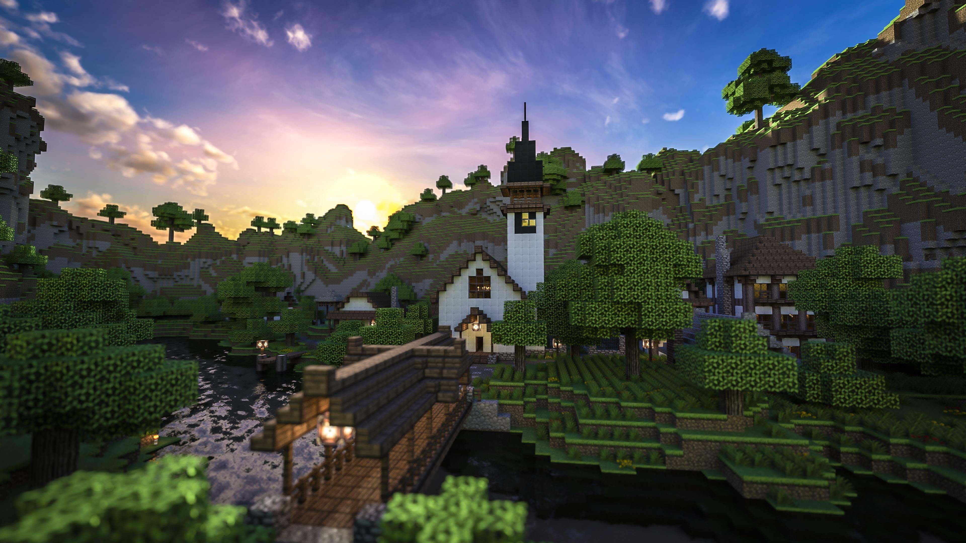 minecraft city hd wallpapers Minecraft Pinterest