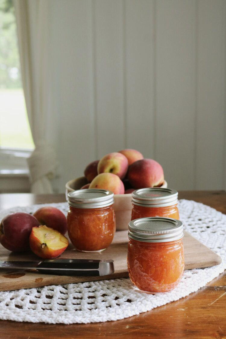 Canned Peach Low Sugar Jam With Ball Canning Under A Tin Roof Blog In 2020 Low Sugar Jam Canned Peaches Salsa Canning Recipes