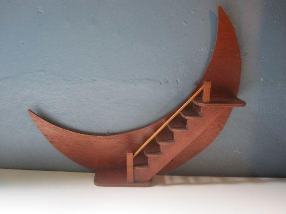 Best Vintage Crescent Moon Wooden Wall Shelf In 2020 Wooden 400 x 300