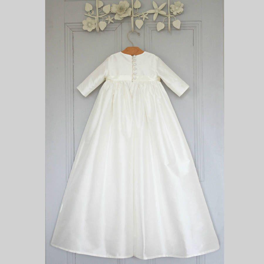 Boy\'s Silk Christening Gown \'Venice\' | Christening gowns ...
