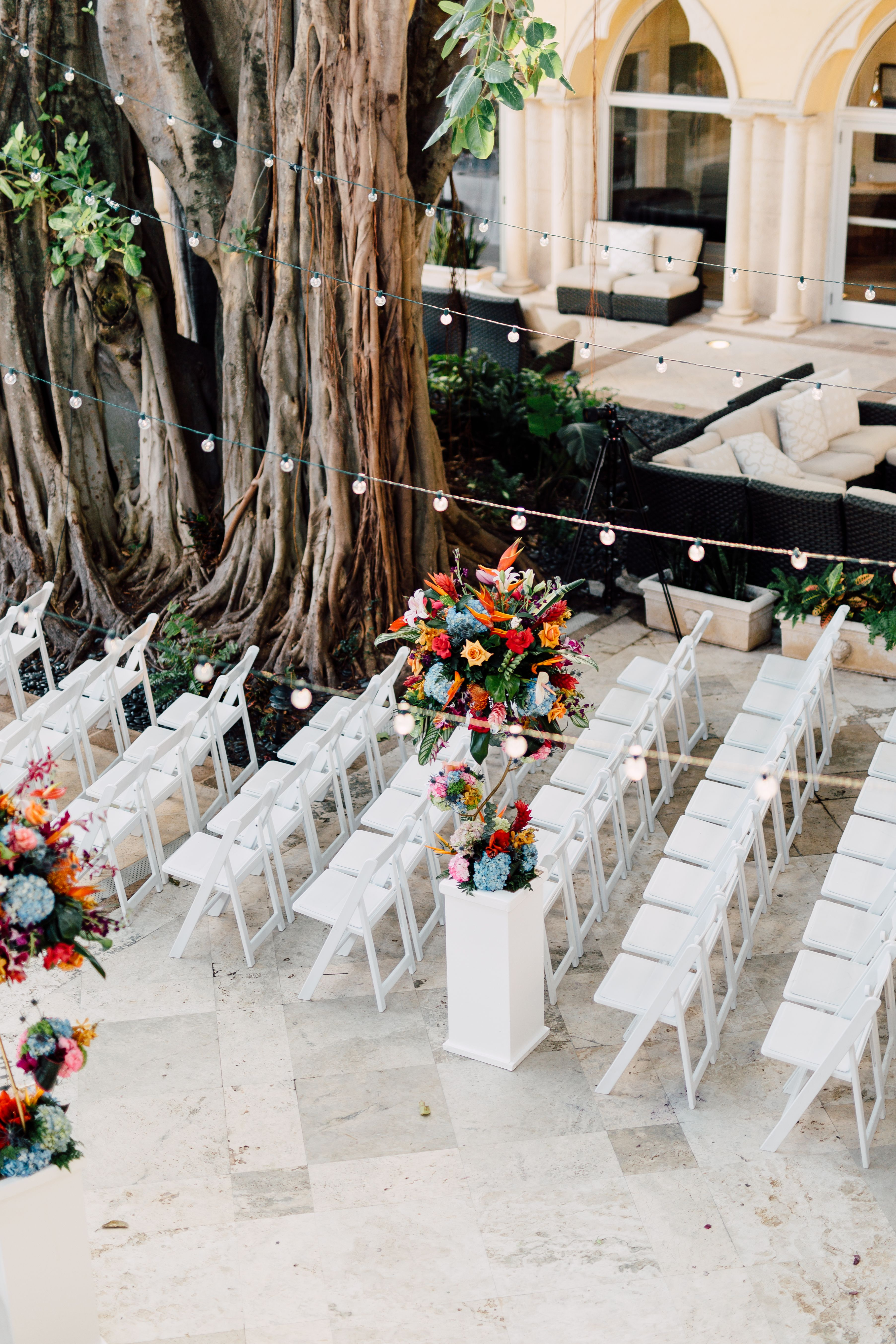 Outdoor Wedding Ceremony At Florida Wedding Venue The Addison