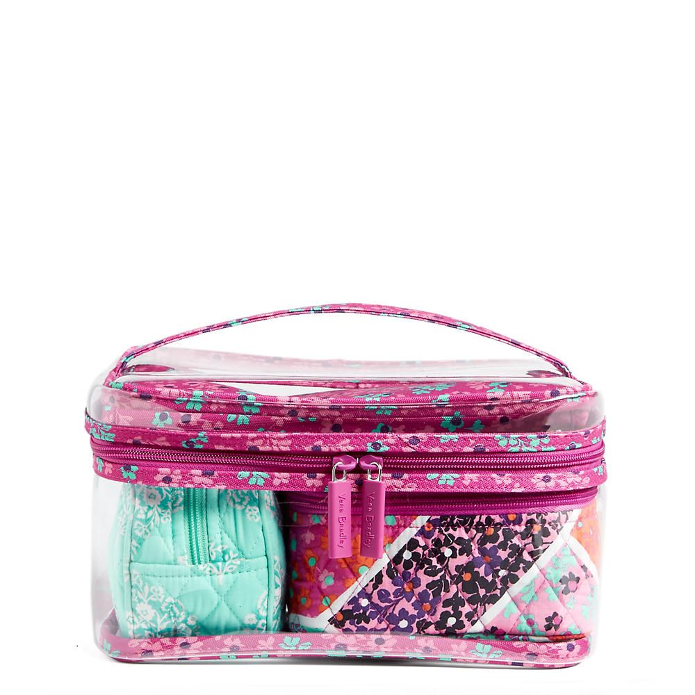 Vera Bradley Travel Cosmetic Set In Modern Medley At The Paper