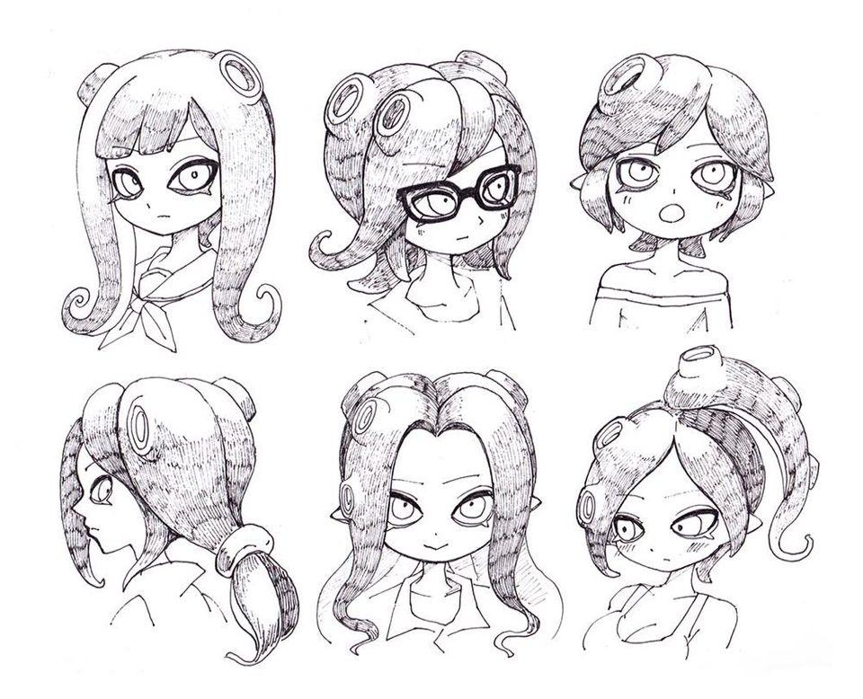 Octoling Designs Splatoon Drawings Hair Styles Video Game