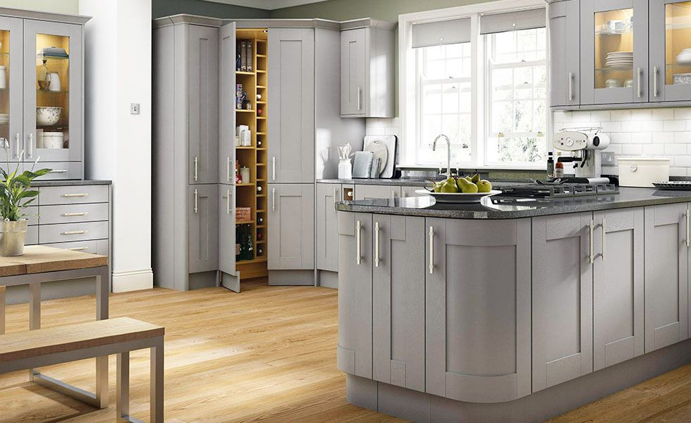appealing light green shaker kitchen | 7. Benchmarx Somerset Light Grey (DOF) v3 (1) | Benchmarx ...