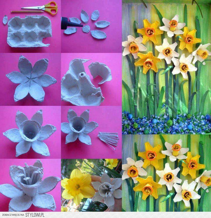 Con bandejas de huevos manualidades pinterest for Bandejas para huevos