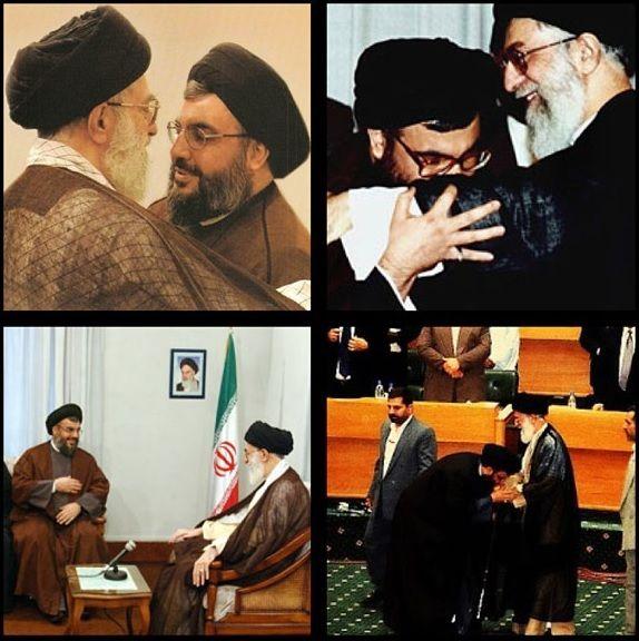 سید حسن نصرالله در آغوش امام خامنه ای - کبار قادة العالم