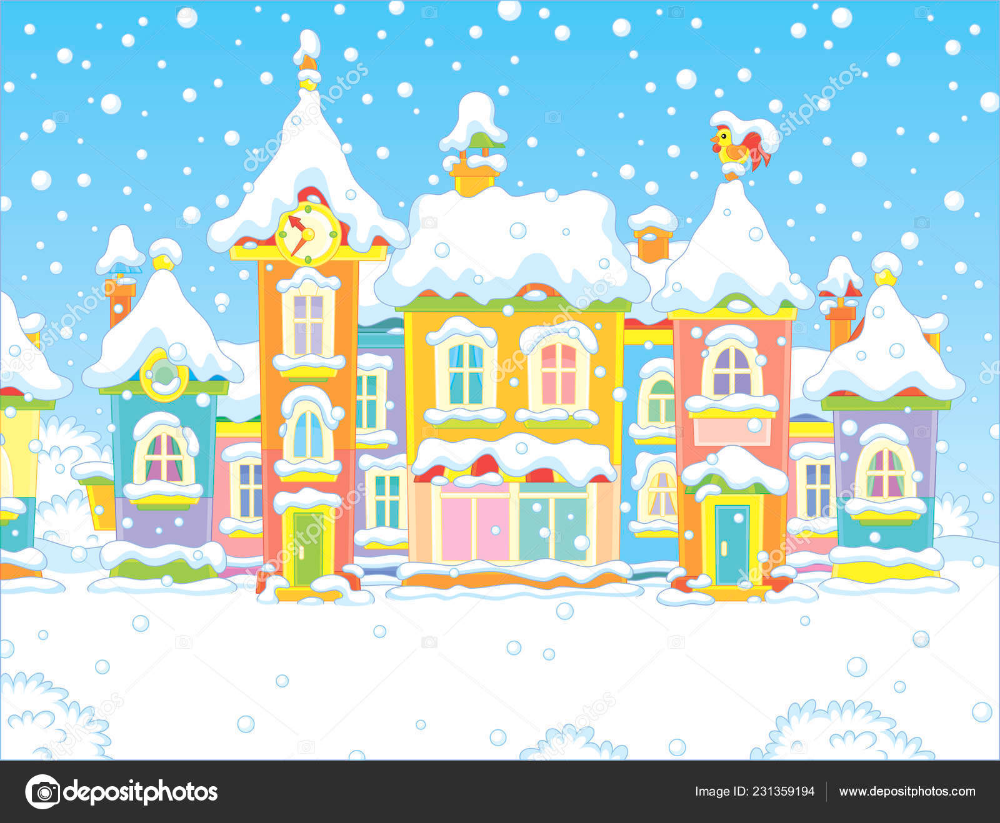 10+ Animated Clipart House Snowing