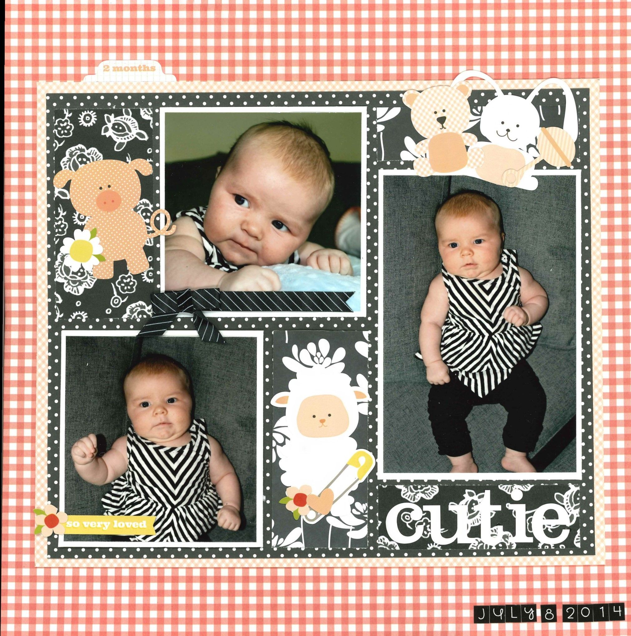 Cutie - Carta Bella Paper - It\'s a Girl Collection | Scrapbooking ...