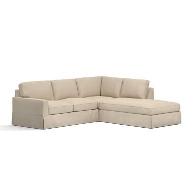 Pb Comfort Square Arm Sectional Down Performance Tweed L