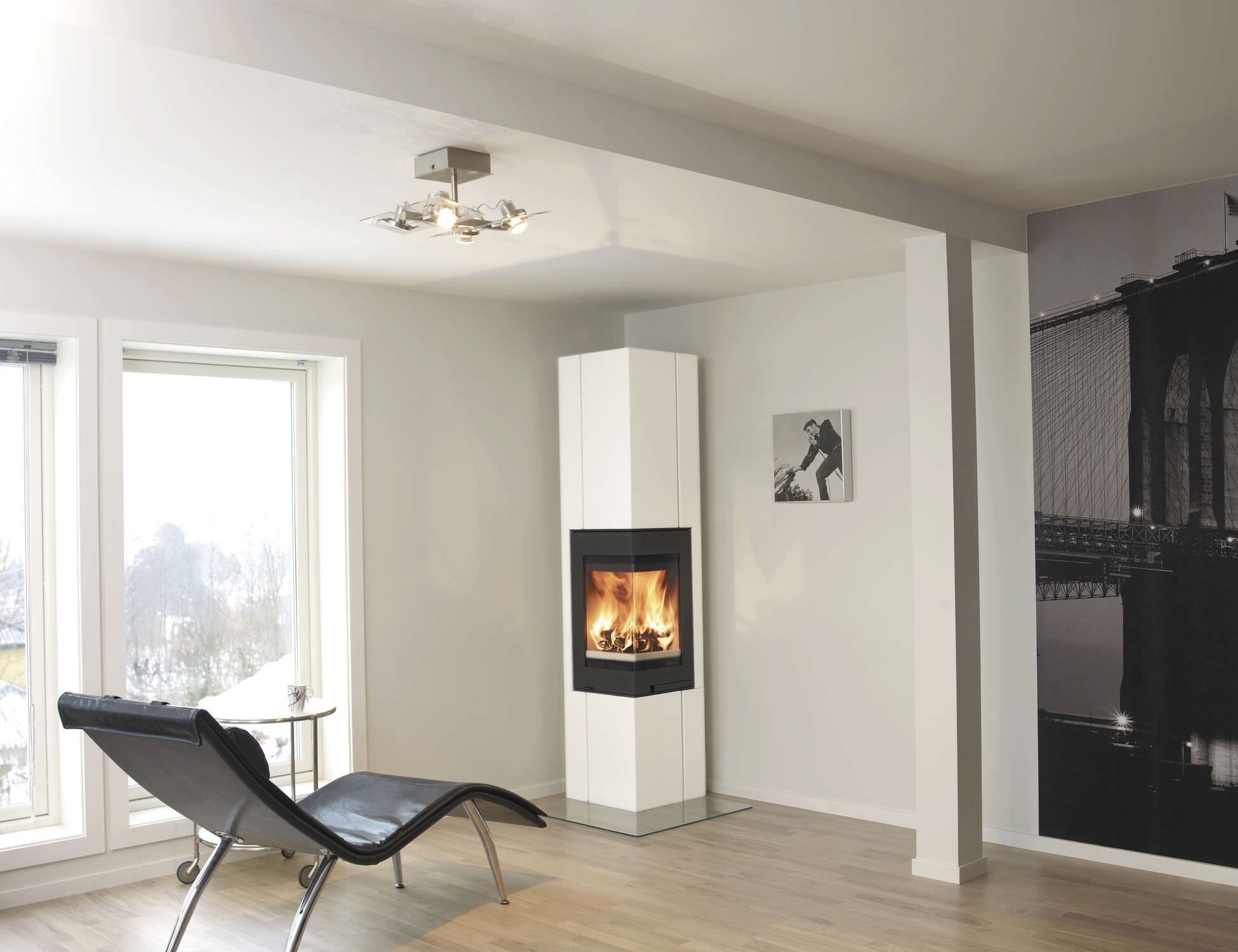 Furniture Modern Corner Fireplace Design Dieas Stylish Vertical