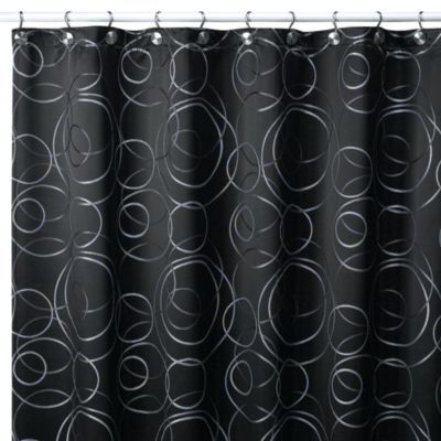 Eclipse 54 Inch W X 78 Inch L Fabric Stall Shower Curtain