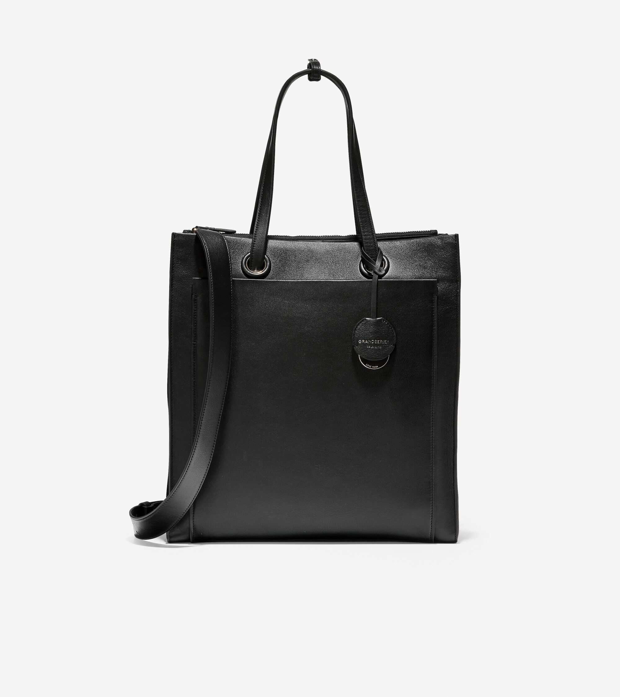 Cole Haan Slim Briefcase Laptop Bag Black Leather