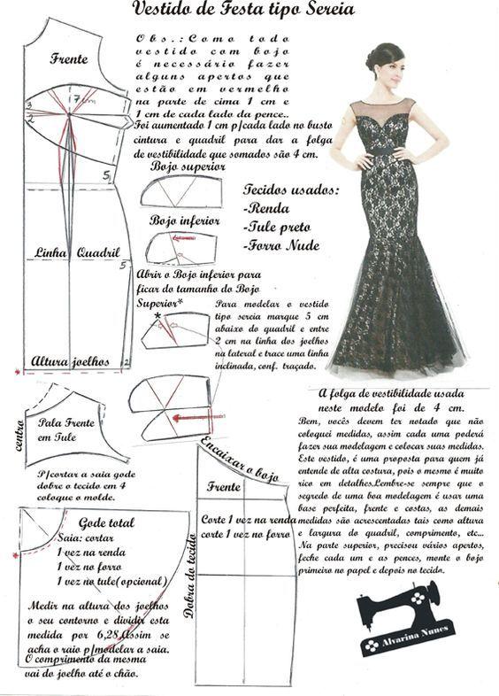 Costura e Modelagem | modelos lindos | Pinterest | Patrones, Costura ...