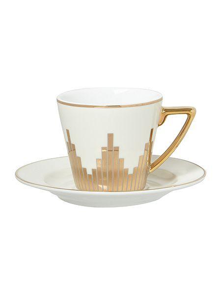 Biba Starburst Espresso Cup And Saucer