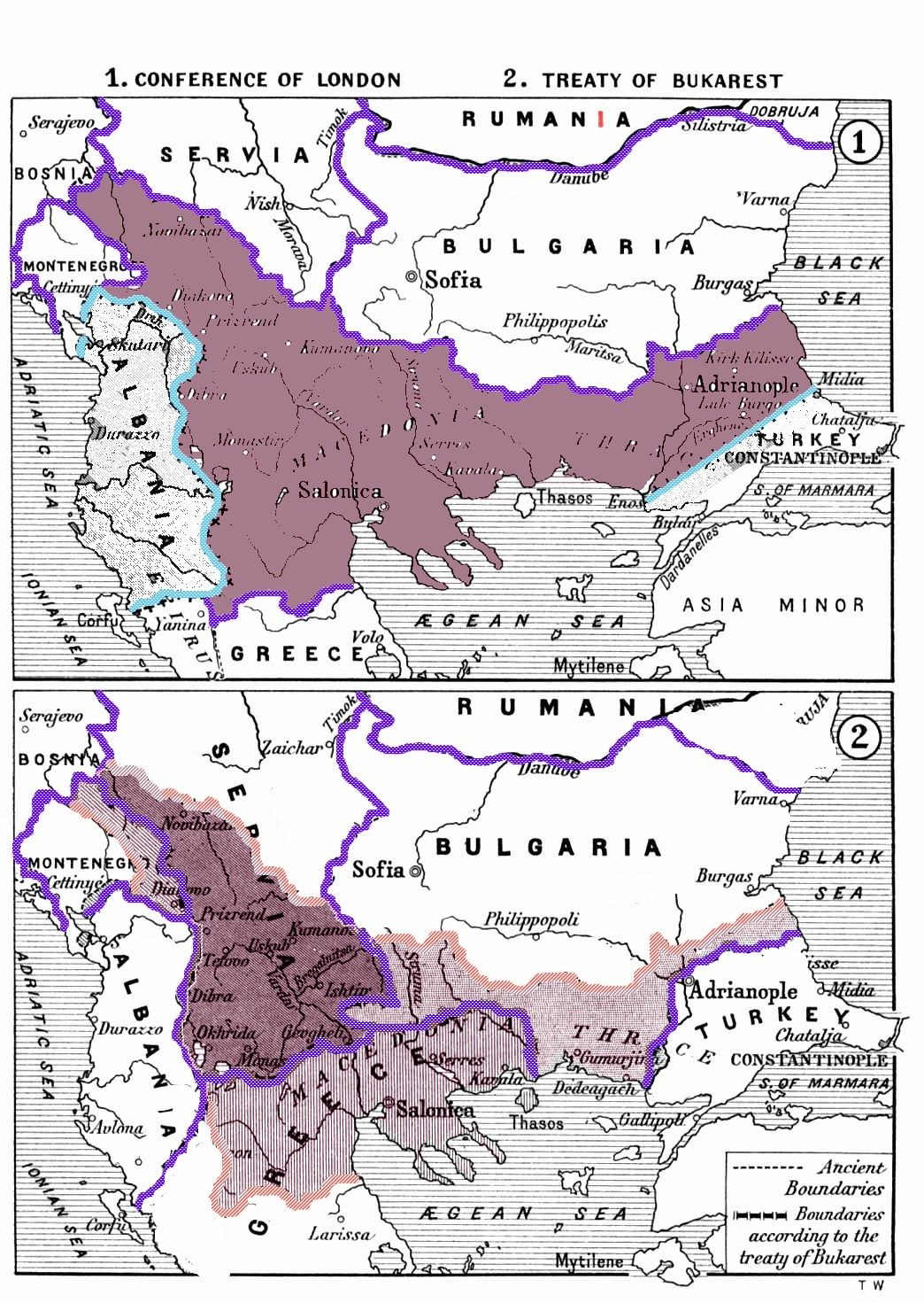 The Division Of The Region Of Macedonia After The Balkan Wars - Map of us holdings 1912