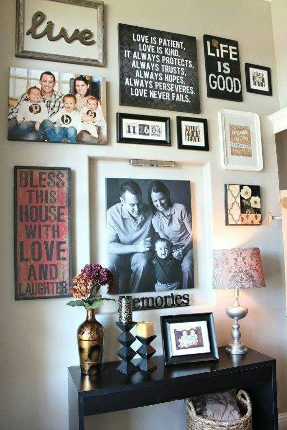 Family Portrait Decorating Ideas