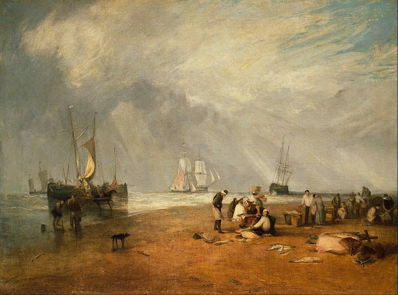 Joseph Mallord William Turner - The Fish Market at Hastings Beach