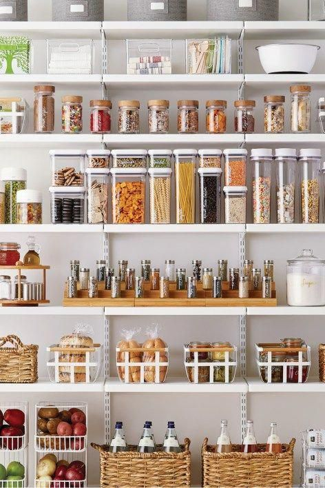 Organization Series The Kitchen Pantry - Pantry design, Pantry organisation, Kitchen organization pantry, Kitchen pantry design, Kitchen storage, Fancy kitchens - Organize your kitchen pantry to create a far more utilized and productive space  This post provides different ideas that you can make your own!