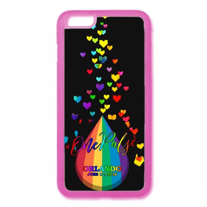 one pulse hearts orlando strong iPhone 6/6s Rubber Case