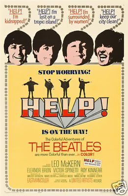A Hard day/'s night The Beatles cult movie poster cult