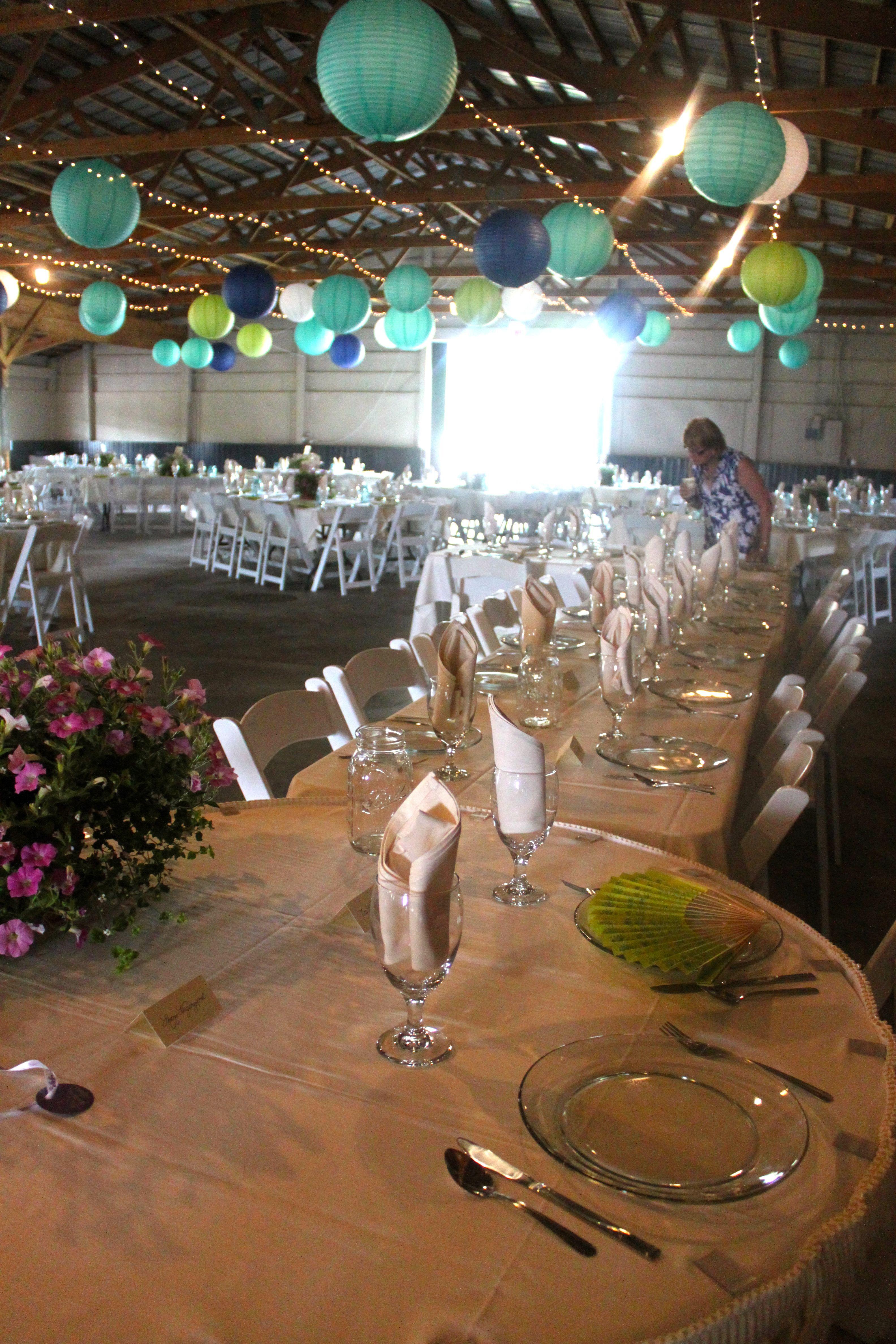 Barn wedding table settings  photo Tiffany Hedge  TableScapesTable Settings  Pinterest