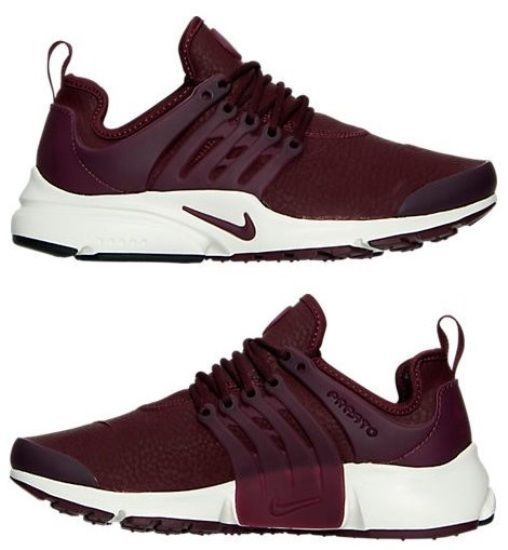 8b1651dbae2a NIKE AIR PRESTO PREMIUM WOMEN s RUNNING M NIGHT MAROON - SAIL - WHITE  AUTHENTIC