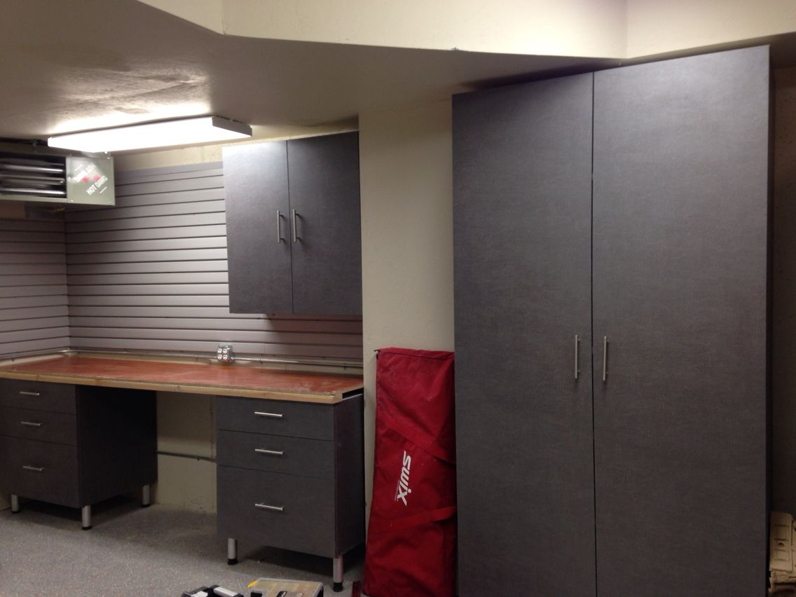 Garage Cabinets Installed By Tailored Living In Utah