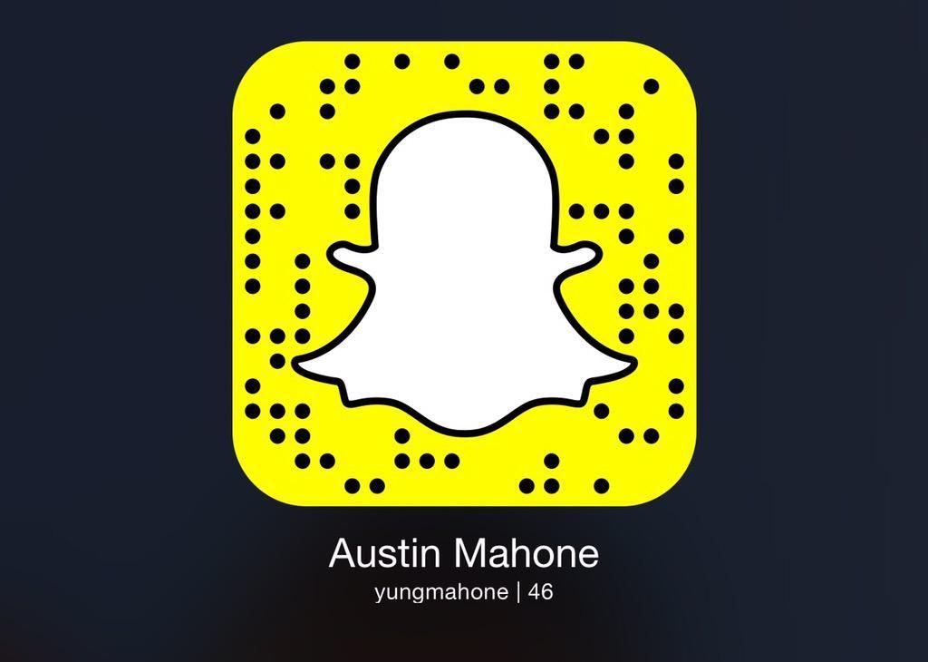 Austin Mahone on Austin mahone, Snapchat screenshot