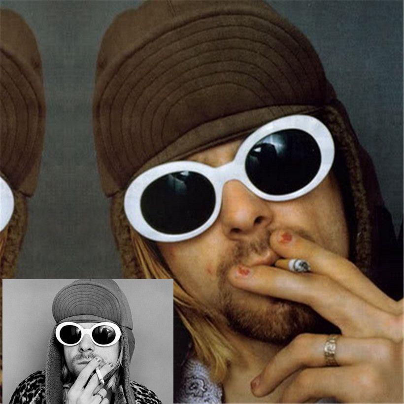 Donne Degli Uomini di modo NIRVANA Kurt Cobain Occhiali Da Sole Donne Uomini Fahion Donna Uomo Occhiali Da Sole occhiali da donna Occhiali UV400 Mirrored