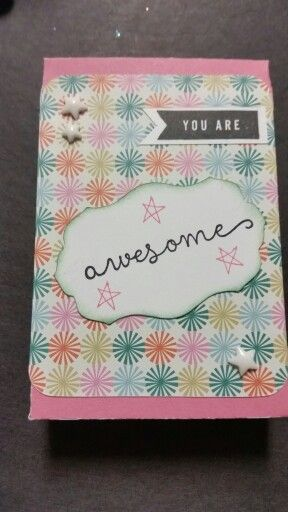 Another cute CTMH 30 project...super easy using Picture My Life cards. Made at cricut club using a box cut from Artiste