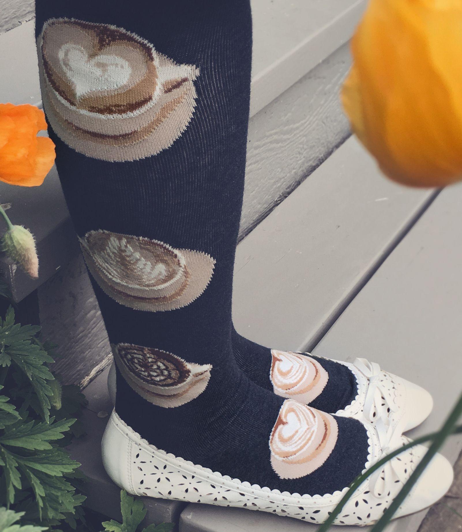 Look At That Crema New Latte Art Socks For Ladies Cute Socks Unique Socks Socks Women
