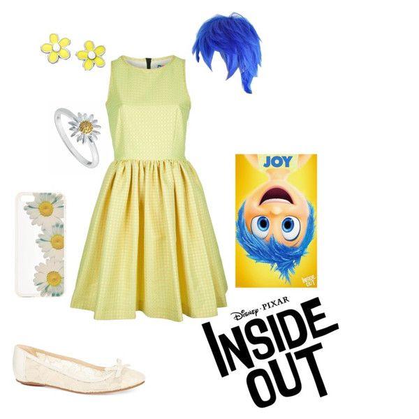 Disney Pixar Inside Out Joy Themed Outfits Disney Dresses Inside Out Costume