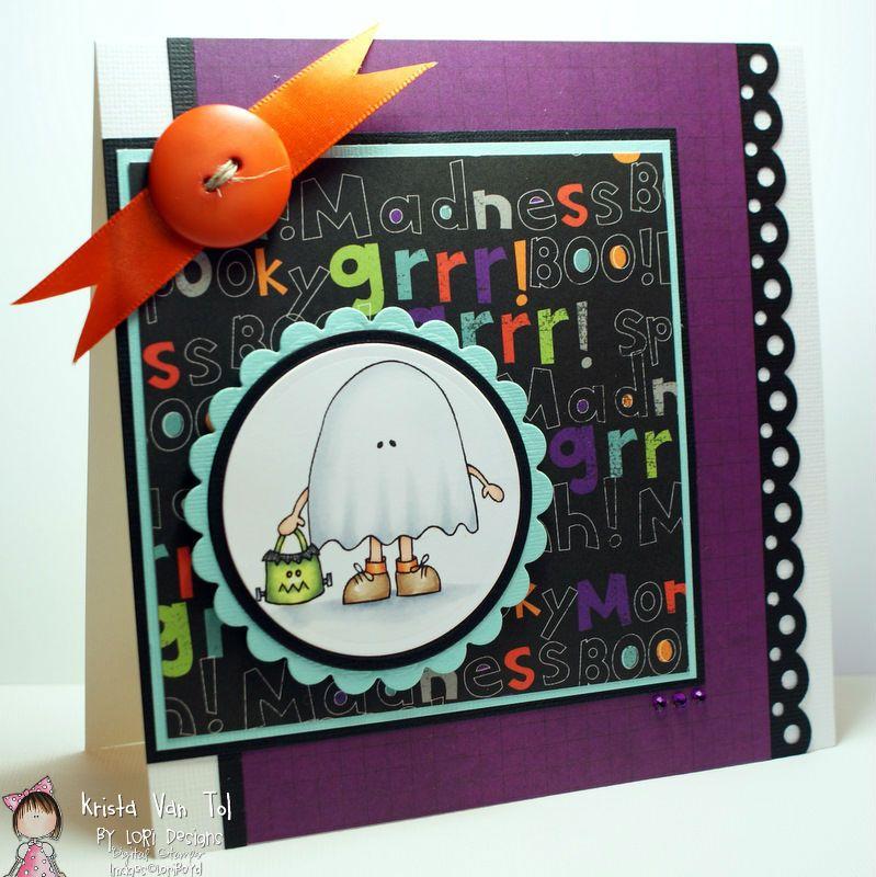 By LORi Designs Digi Shop: A card by Krista Van Tol  Little Ghost Boo Stamp by Lori Boyd