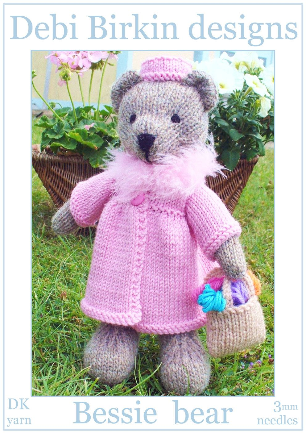 Teddy bear toys images  Bessie teddy bear with clothes PDF email knitting pattern  Children
