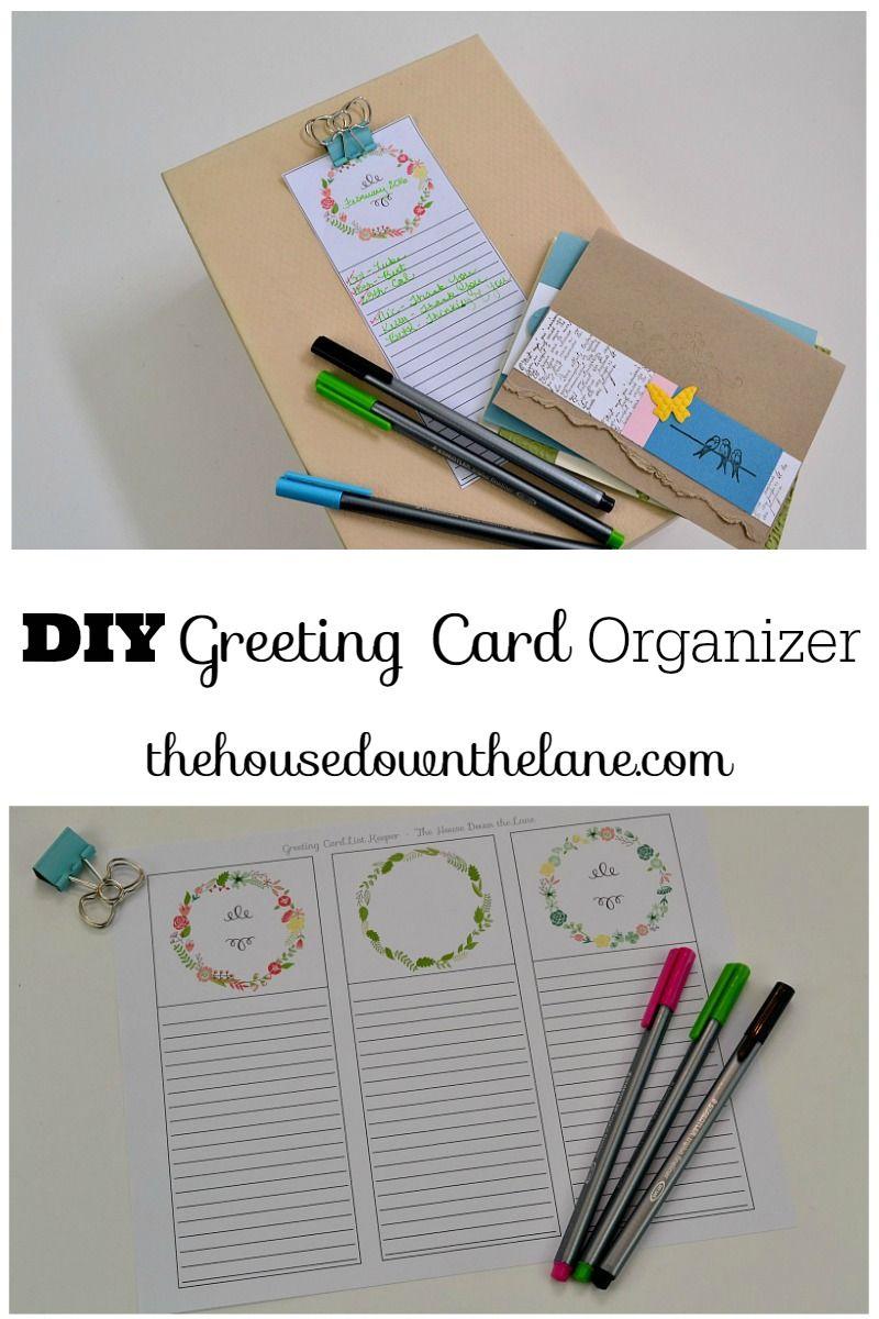 Diy Greeting Card Organizer Greeting Card Organizer Greeting Cards Diy Card Organizer