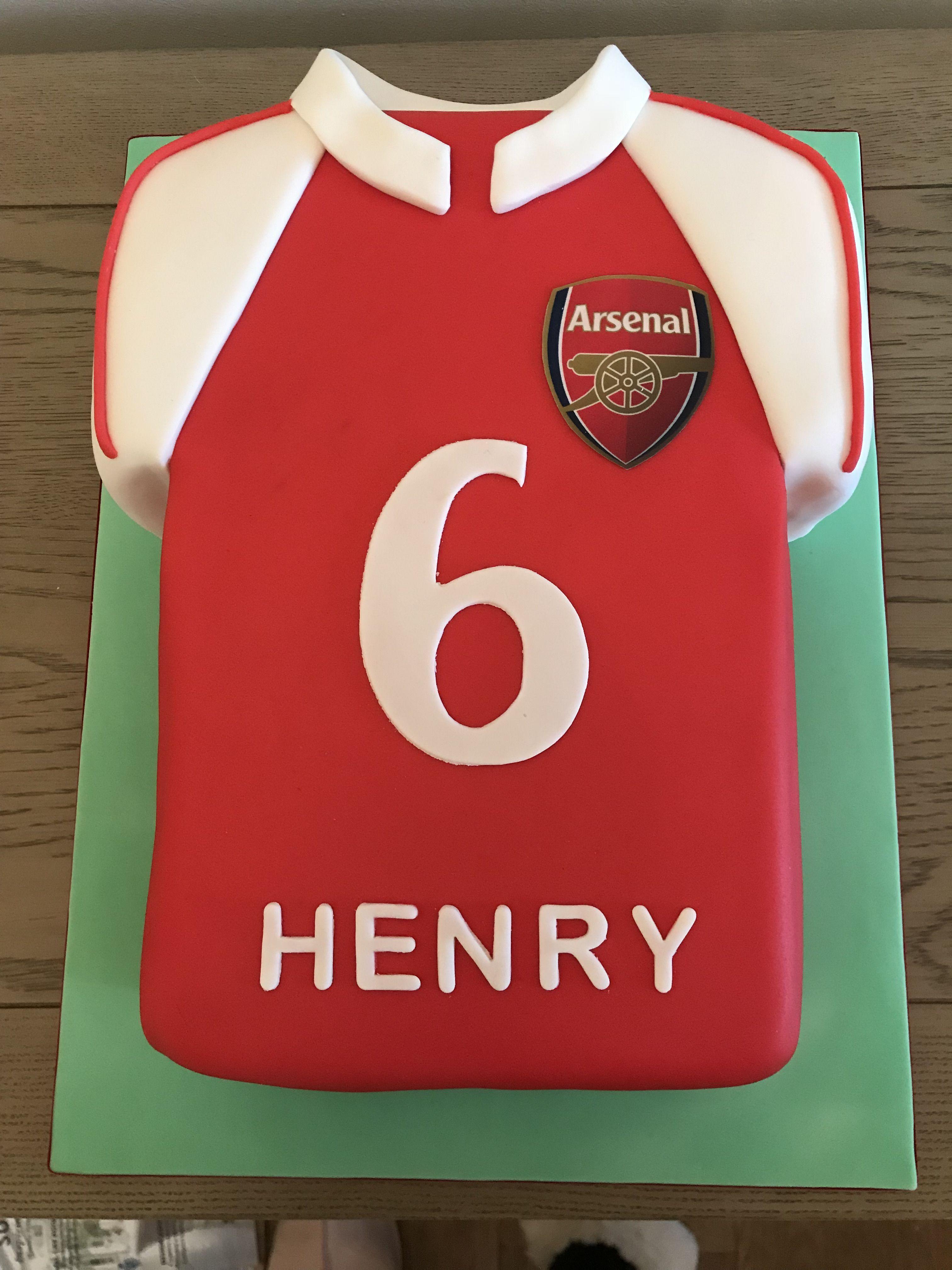 Arsenal Football Shirt Cake With Images Shirt Cake Cake