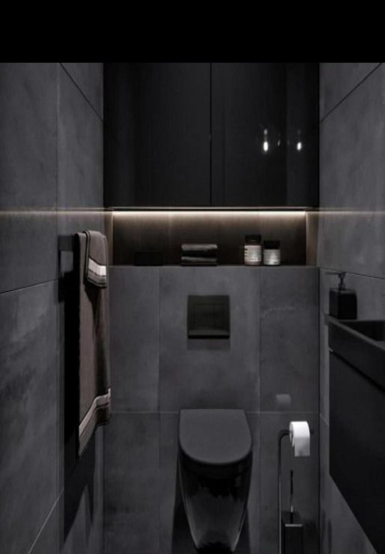 Black Bathroom Ideas Small Homyracks