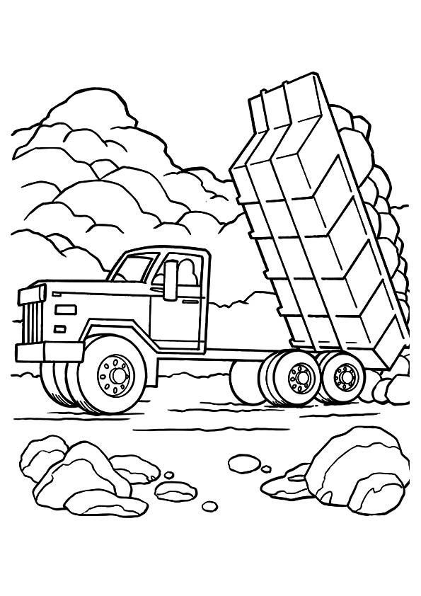 Dump Truck Coloring Pages Dumping   Monster truck coloring ...