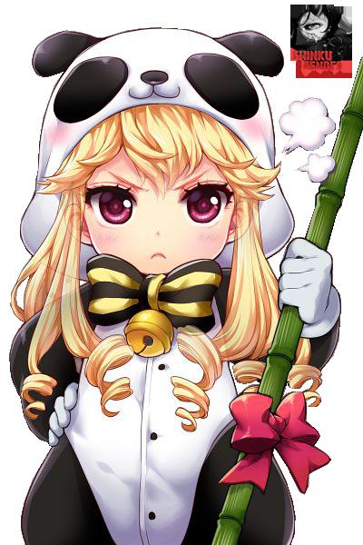 Cute Chibi Panda Cinia Pacifica Render By Shinkunekita Deviantart Com On Deviantart Chibi Panda Anime Chibi