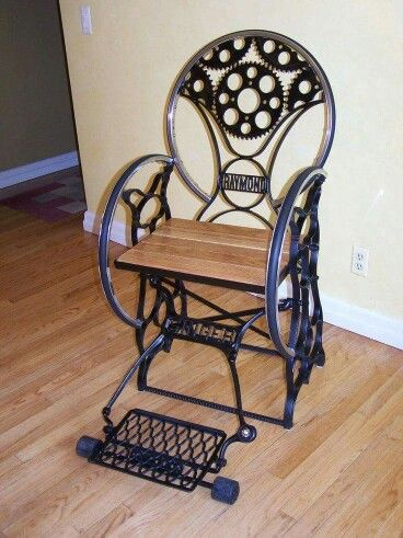 Sweet Way To Upcycle An Old Singer Sewing Machine Steampunk New Old Singer Sewing Machine Chairs