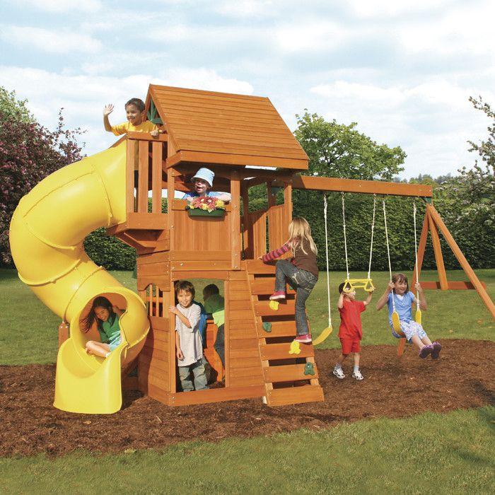 Grandview Deluxe Wooden Swing Set Wooden Swing Set Swing Set Wooden Playset