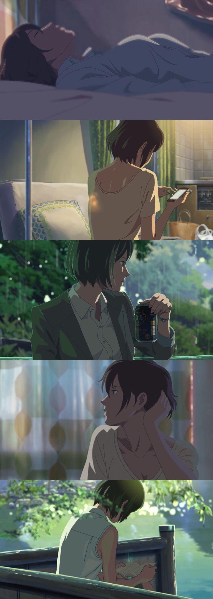 Yukino Garden Of Words Movie Wallpaper Ponsel